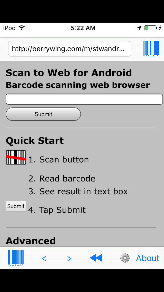 Image of Scan to Web app