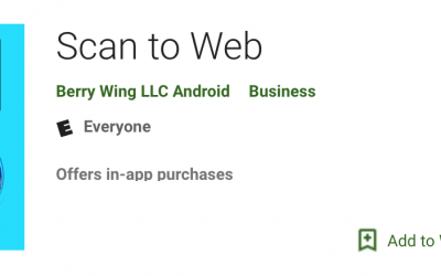 Android Barcode Scan to Web App Update!